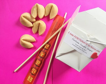 Fortune Cookie Soap Gift Set - Valentine's Day Gifts - Novelty Soap - Chinese Takeout
