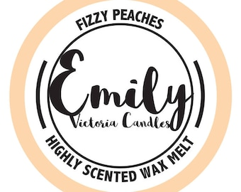 Fizzy Peaches Highly Scented Long Lasting Wax Melt / Tart / Candle