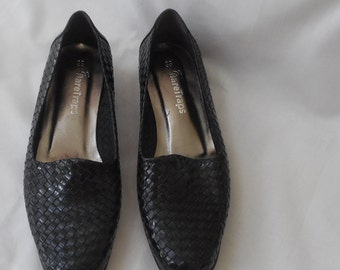 90's Leather Woven Loafers