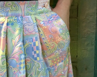 8 Pendleton pastels skirt with side closure