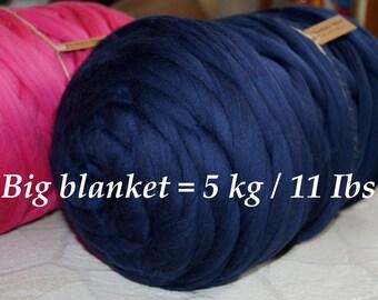 SALE! 5 kg (11 Ibs) Super Thick Merino wool. Roving wool. DIY Arm knitting. Super chunky wool yarn. Super bulky yarn. Chunky knit blanket