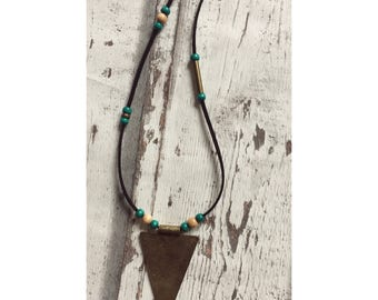 Boho beads necklace with ornament