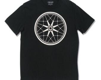 Men's BMW Snowflake Wheel T-shirt, motorcycle gifts, motorhead, motorcycle rider t shirt, biker t shirt, motorcycle clothing, California
