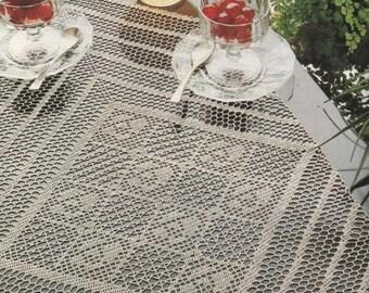 184. Vintage crochet  runner UK pattern  in pdf