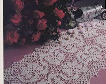 295. Vintage filetcrochet runner UK pattern in pdf