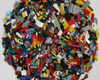 1000+ Random Lego Brick Pieces!!! Free Minifigure!!! Star Wars, Harry Potter, City, Castle, Space, Marvel, and Pirate Pieces! Birthday Craft