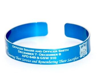 Police Offer Memorial Bracelet / First Responder / Sheriff Memorial Bracelet / Honor the Fallen / Officer Memorial / Police KIA/ deputy KIA