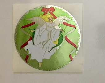 Large Vintage Sandylion Mylar Angel Sticker