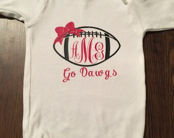 Football Monogram Onesie