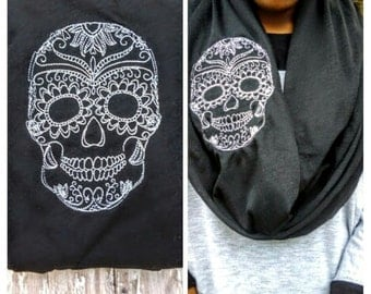 Day of the Dead Infinity Scarf