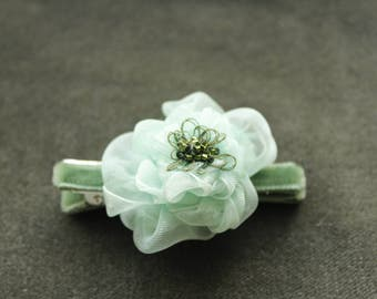 Organza hair flower, special occasion, casual