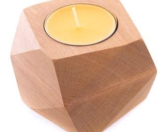 Wooden candle holder TM C2
