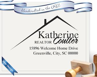 Realtor Stamp Return Address Stamp - Perfect for Gifts, Realtor Gifts, Christmas, House Warming - SKU 1210