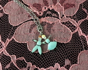 1920's  Enameled Jack and Jill Charms Necklace
