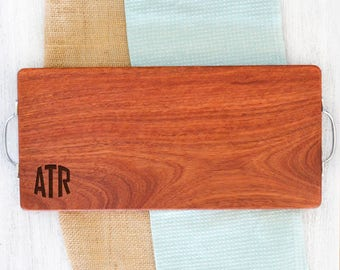 Personalised Rounded Initials Chopping Board - Australian Made and Engraved