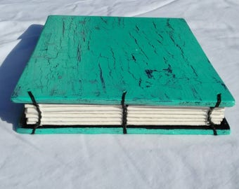 """9.5 x 5.5"""" Handmade journal with wooden covers and HD paper"""