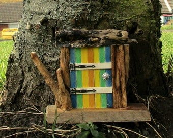 Fairy Door - Rustic - Handmade - Recycled - Upcycled - Reclaimed - eco friendly - Nautical - Wood Art - Wooden Fairy Door - Driftwood