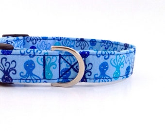 Octopus Dog Collar   Boy Dog Collar   Blue Dog Collar   Large Dog Collar   Male Dog Collar   Small Dog Collar   Puppy Collar