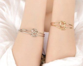 Double Knot Bracelet, Tie the Knot Bracelet, Gold Knot Bracelet, Silver Knot Bracelet, Tie the Knot, Bridesmaid Gift, Rose Gold Bracelet