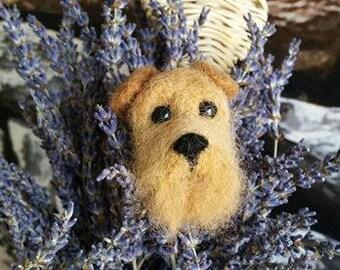 Needle felted Welsh terrier brooch, Welsh terrier, brooch, needle felted, gift