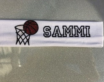 Basketball Custom Name Headband