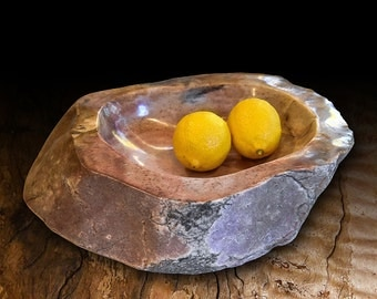 Colorful Quartz Bowl ( PINK,TAN & BROWM)