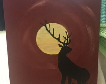 Elk in the Moonlight