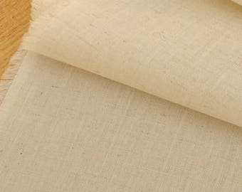 "Cream Cotton Fabric - 19.5"" x 45"" MT023"