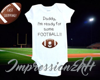 Funny football baby shirt one-piece bodysuit shirt