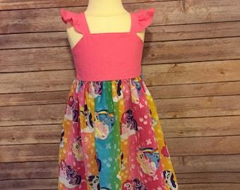 Toddler My Little Pony Dress | My Little Pony Party | Pinkie Pie Dress | Rainbow Dash Dress | Fluttershy Dress | Twilight Sparkle Dress