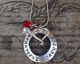 Beautiful Warrior necklace~ Warrior jewelry~ Hand stamped