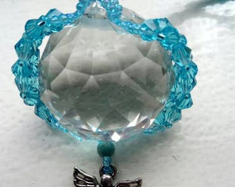 Archangel Michael Lightcatcher with Turquoise Crystals