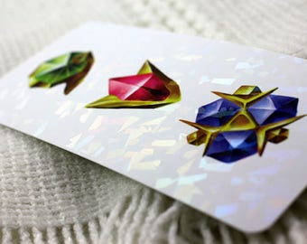 The Legend of Zelda Ocarina of Time Spiritual Stone Holographic Bookmarks