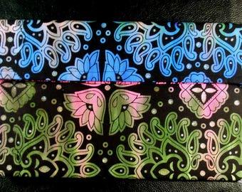 Rainbow Henna Flower Clutch Bag