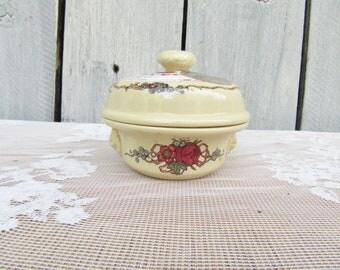 Vintage French Stoneware Terrine Fois Gras Container, Unique Kitchen Herb Storage, Simplex France, Model Depose, Strasburg, Condiment Jar