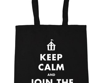 Keep calm and join the circus Tote Shopping Gym Beach Bag 42cm x38cm, 10 litres