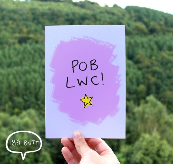 Pob lwc good luck welsh greetings card birthday gift wales like this item m4hsunfo Images