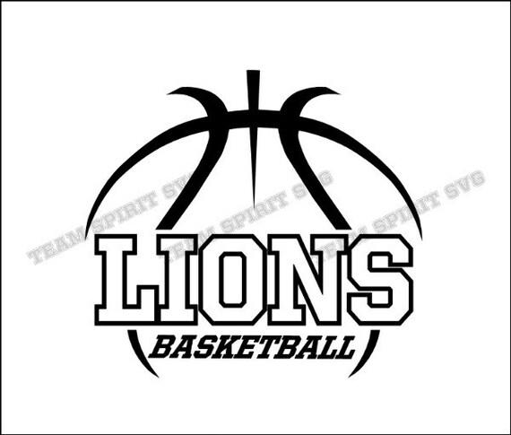 Lions Basketball Outline Download Files SVG DXF EPS