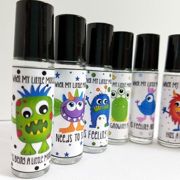 Kids Essential Oil Labels Roller Bottle Labels Oil Blends