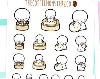 dim sum emotis - emoti planner stickers E069