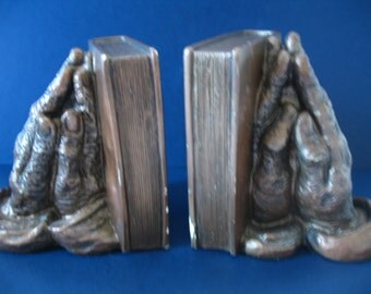 Holy Bible Praying Hands Bookends