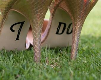 I do wedding shoe decals - style 1