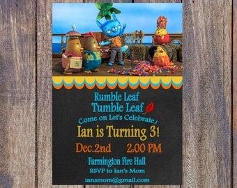 Tumble Leaf Birthday Invitation - Printable - Personalized