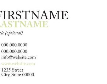 Business Card - Minimalist
