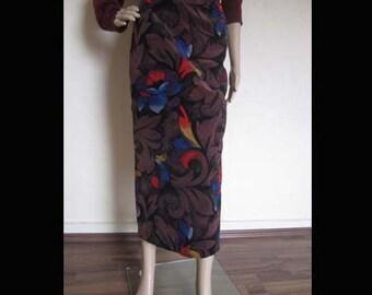Vintage 80s creation Pauline Velvetskirt velvet skirt skirt skirt high waist M