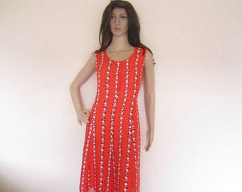 True vintage 60s dress dress gown Mille fleurs s