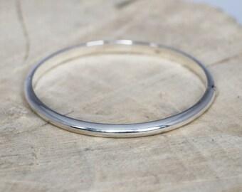 Sterling Silver Bangle | Slave Bracelet | Silver Bracelet | Slave Bangle | Plain Bangle | Sterling Silver 925 | Oval Stacking Bracelet