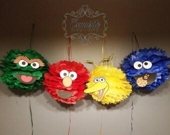 Sesame Street Pom Poms -- SET OF 4
