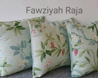 Sanderson cherry blossom print cushions