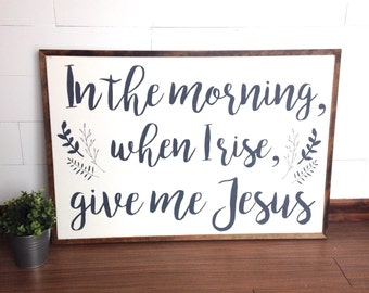 Give me Jesus | 3'x2' | hymn sign | wood sign | framed sign | custom sign | gallery wall | home decor